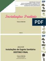 IP - AULA 03 - Instalações de Esgoto Sanitário