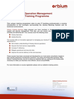 IT Operation Management Programme 2011-08-23