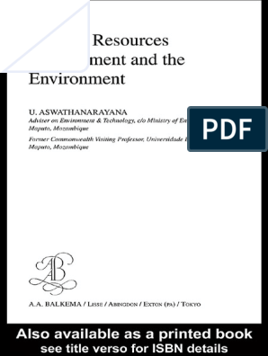 Mineral Resources Management and the Enviroment | Mining | Coal