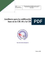 Adecuacion a Condificacion CIE -10 Mexico