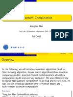 Quantum Computation III - Slides - Yongjian Han
