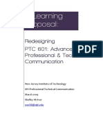 PTC 601 Redesign Proposal Draft
