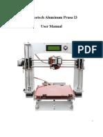 Geeetech Prusa I3 Aluminium User Manual
