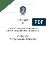 Páthos- A Poética Das Emoções - Ifcs - Ufrj