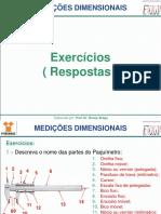 Metrologia 6 - MEDIÇÕES DIMENSIONAIS _ Resposta Exercícios