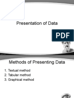21-5 Presentation of Data