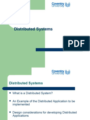 Distributed Systems Client Server Model Web Server