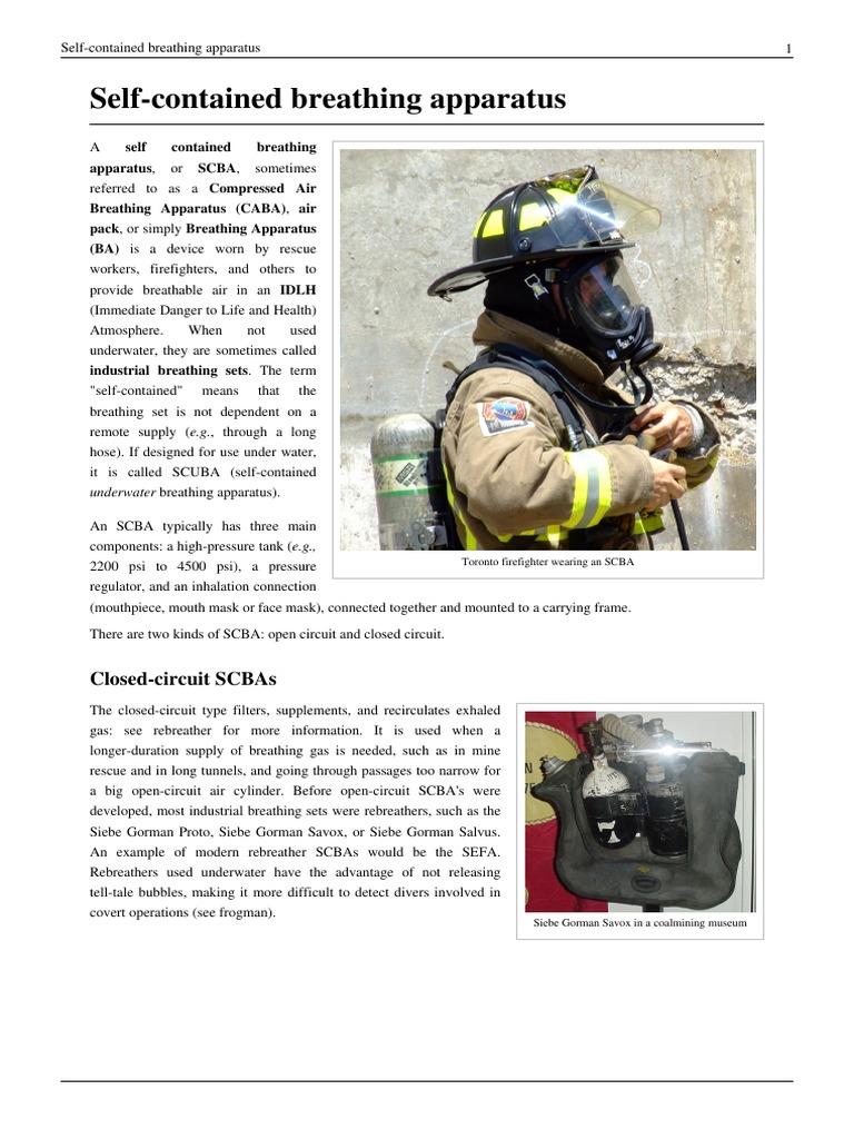 SCBA Wiki pdf | Diving Equipment | Sports Equipment