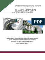 INFORME DE LA VISITA A SACRAMENTO, CALIFORNIA, ESTADOS UNIDOS