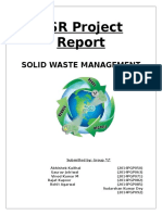 CSR Project Solid Waste Management Group L