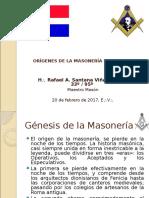 Presentación Orígenes de La Masonería Dominicana