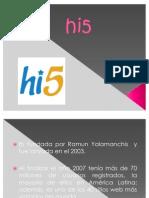exposicion de hi5