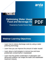 Arvia Technology Food and Beverage Webinar
