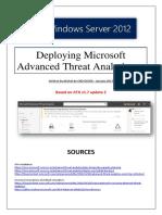 Deploying Microsoft Advanced Threat Analytics - ATA (tuto de A à Z)