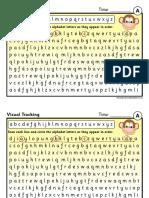 Visual Tracking Alphabet Sheets