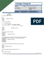 EQUAÇÕES E PROBLEMAS 01.doc