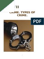 UNIT 7Crime. Types of Crime. Redactata