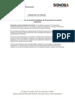 30/12/16 Se Crea en Sonora, El Consejo Ciudadano de Procuración de Justicia Ambiental -C.1216129