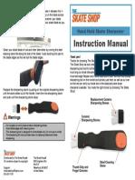 Skate Sharpener Instruction Manual
