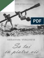 Abraham Verghese - Să Tai În Piatră Vie