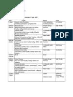 Academic Portfolio Workshop, Aug 17-20 Schedule First Meetings WSSU