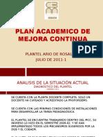 Plan Academico de Mejora Continua Presantacion