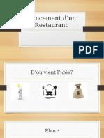 Lancement D'un Restaurant