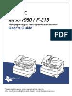 F-315, MFX-1950 User Guide