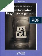 Saussure - Escritos de lingüística general.pdf