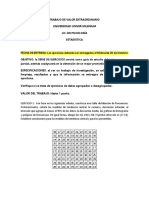 Serie de Ejercicios de Estadística Psicología 2017-1