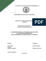 Il Ministero per la Sicurezza dello Stato e il sistema repressivo nella Repubblica Democratica Tedesca di G. Sannino