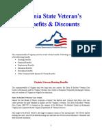 Vet State Benefits & Discounts - VA 2017