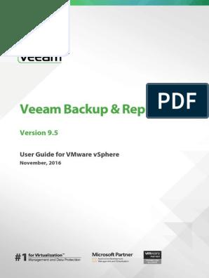 Veeam Backup 9 5 User Guide Vsphere En | Backup | Data