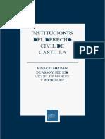 Jordán de Asso y del Río. Instituciones del derecho civil de Castilla. Lima, Instituto Pacífico, 2015.