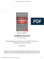 Inteligencia Emocional, Resumen Del Libro de Daniel Goleman O.R