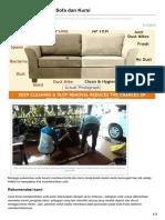 Cara Membersihkan Sofa Dan Kursi - 0856 240 298 36