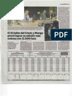 XI Salón del Cómic  y Manga de Castilla y León. Rueda de Prensa en el diario