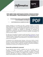 Nueva convocatoria de EPM a jóvenes profesionales