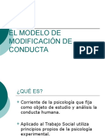 Modelo Modificacion de Conducta