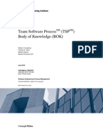 Team Software Process (TSP) Body of Knowledge (BOK)