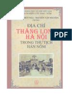 Địa Chí Thăng Long Hà Nội trong thư tịch Hán - Nôm - Nguyễn Thuý Nga