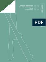 Cuchillería. Catálogo Profesional de Hostelería 09/10. Grupo CRISOL.