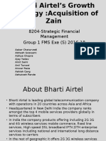 Airtel Acquisition of Zain