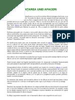Raport Special-Finantarea Unei Afaceri