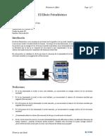 Práctica 1 y 2 Efecto Fotoeléctrico