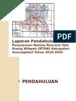 01. Laporan Pendahuluan Review Rtrw Kabupaten Gunungkidul