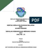Kertas Kerja Kejohanan Balapan Dan Acara Padang Skmk 2017