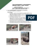 Calicatas - Exploración del suelo