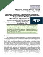 Optimization of Tensile and Impact Behaviours of Randomly Oriented Short Sisal Fiber Reinforced Epoxy Composites Using Response Surface Methodology