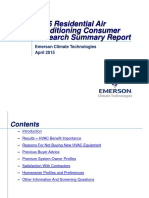 2015 Residential HVAC Consumer Research Summary Report